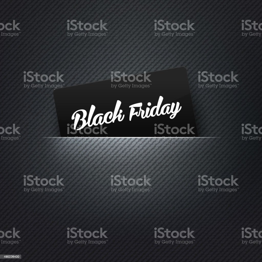 Black Friday label in poket card, vector illustration vector art illustration