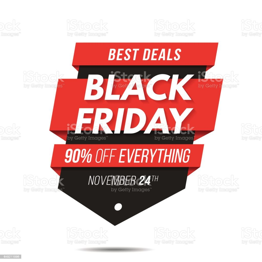 Black Friday Label Price Tag Sale Banner Badge Template Sticker - Event badge template