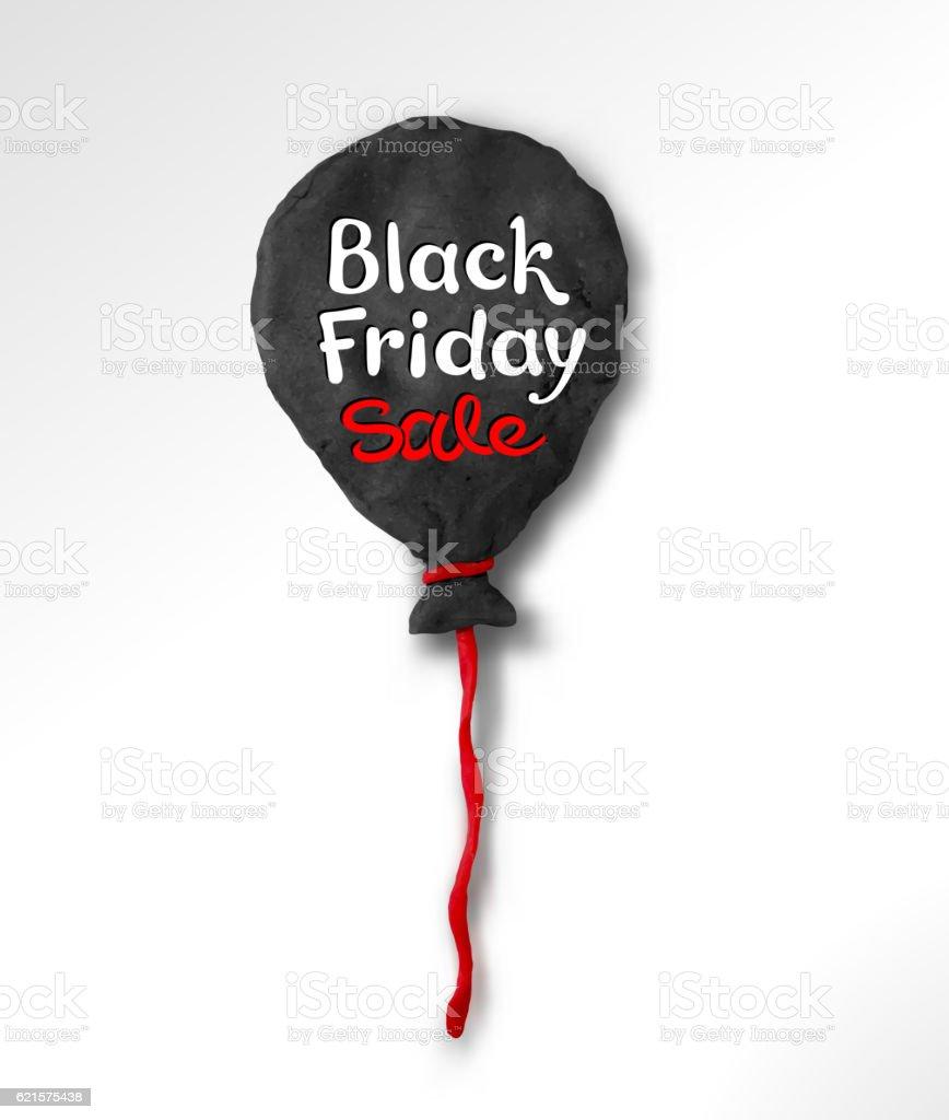 Black Friday lettering and plasticine balloon black friday lettering and plasticine balloon – cliparts vectoriels et plus d'images de affaires libre de droits