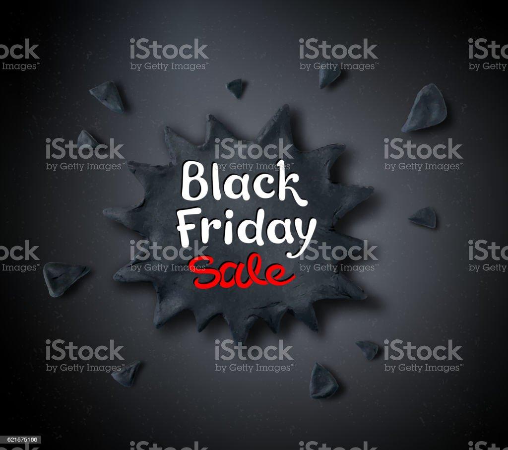 Black Friday lettering and plasticine banner black friday lettering and plasticine banner – cliparts vectoriels et plus d'images de affaires libre de droits