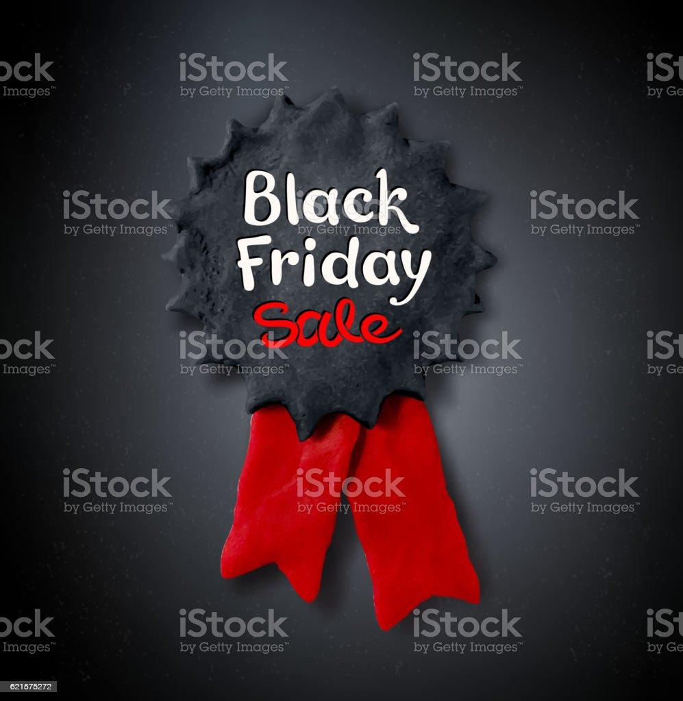 Black Friday lettering and plasticine medal banner black friday lettering and plasticine medal banner – cliparts vectoriels et plus d'images de affaires libre de droits