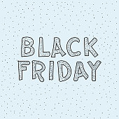 istock Black Friday Lettering Drawing 1252491419