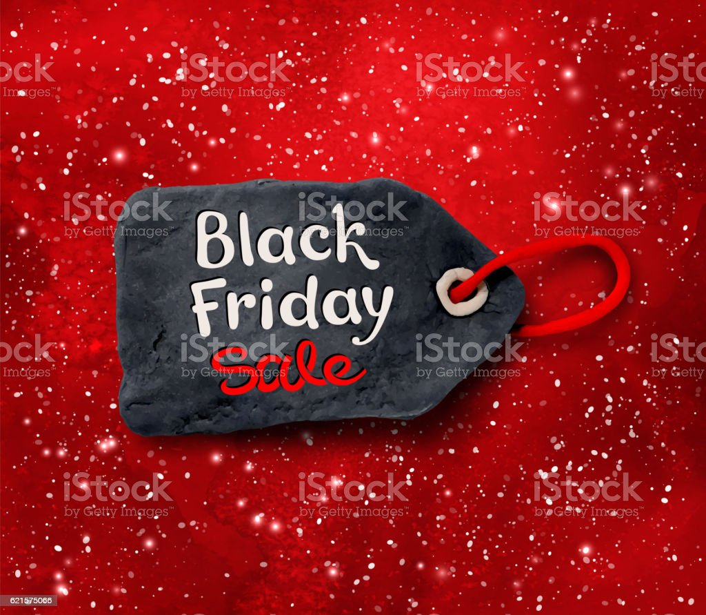 Black Friday lettering on plasticine tag banner black friday lettering on plasticine tag banner – cliparts vectoriels et plus d'images de affaires finance et industrie libre de droits