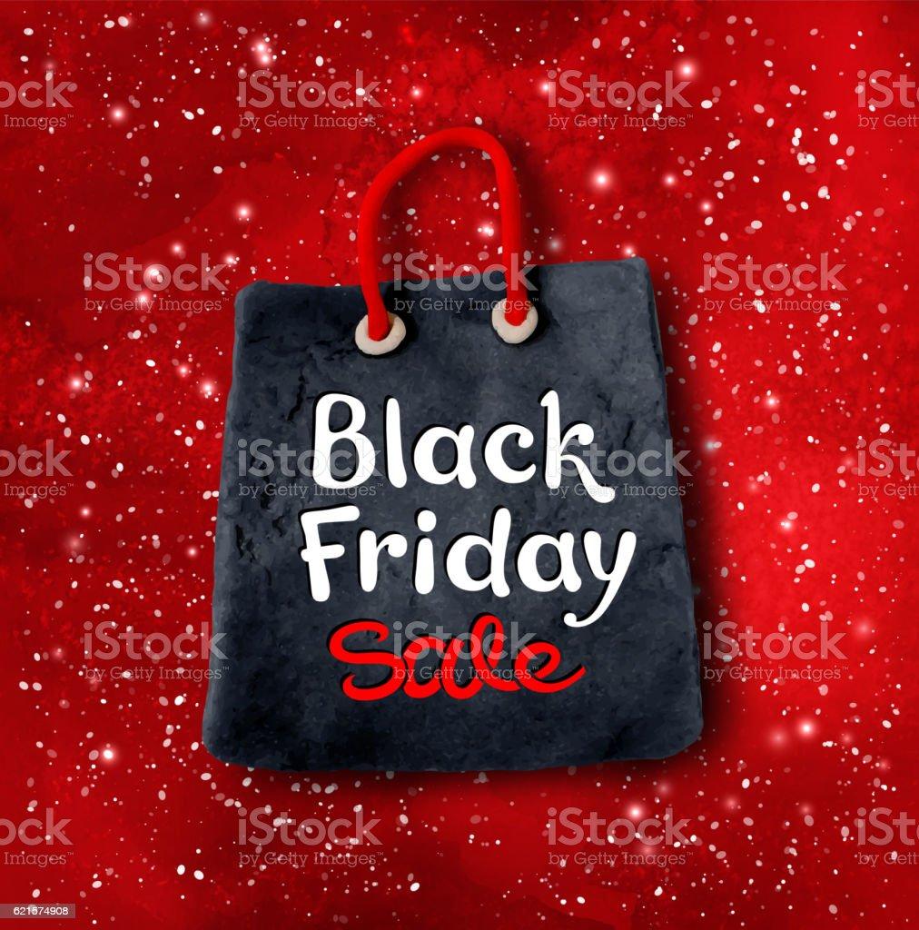 Black Friday lettering on shopping bag banner black friday lettering on shopping bag banner – cliparts vectoriels et plus d'images de affaires finance et industrie libre de droits