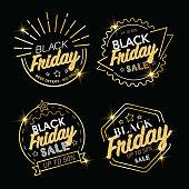 Black Friday luxury icon set