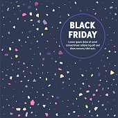 Modern design layout template for black friday cover design for web banner or print advertising with abstract background.