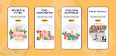 Black friday onboarding mobile app screen flat vector template
