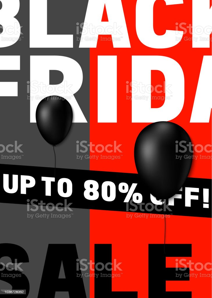 Black Friday Poster Design With Modern International Typography Stock Illustration Download Image Now Istock