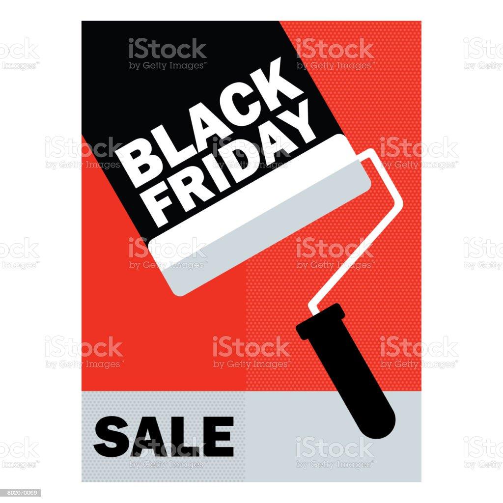 Zwart Vrijdag Poster Verkoop Tag Sjabloon Label Speciale