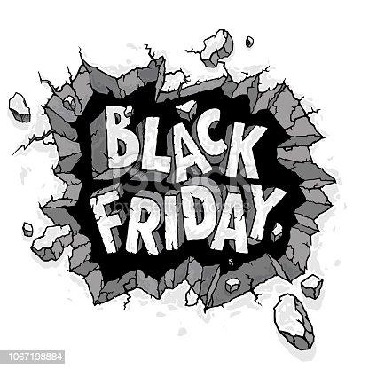 Black Friday hand-drawn illustration