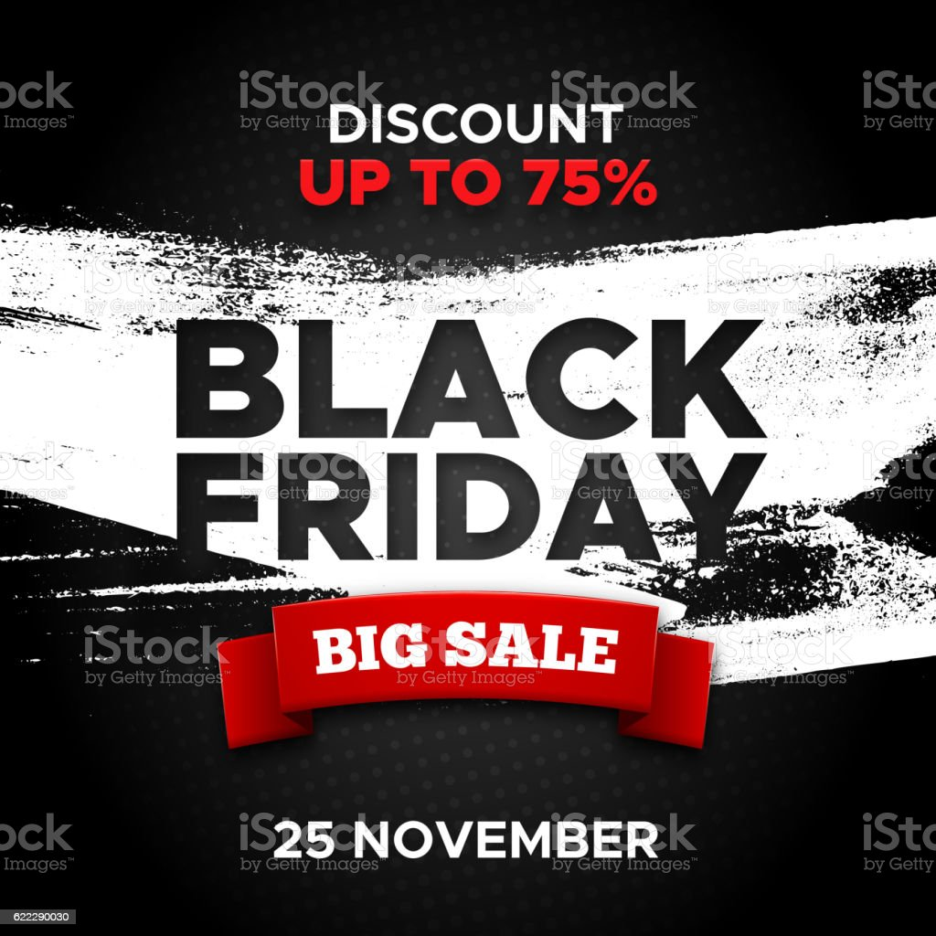 Black Friday promo banner vector background vector art illustration