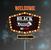 istock Black Friday retro light frame 522559572