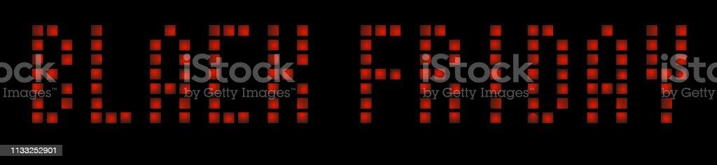 Black Friday retro light frame. 80 s retro. Vector illustration 10...