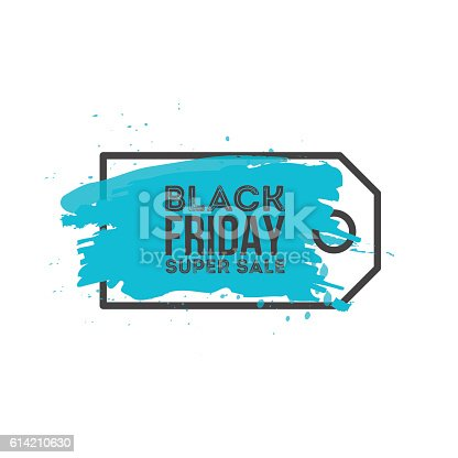 Black Friday Sale Abstract background. Grunge watercolor brush label price tag. Vector Illustration for your business artwork.