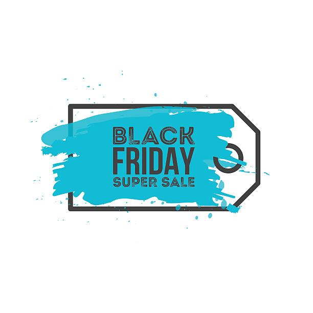 ilustrações, clipart, desenhos animados e ícones de black friday sale abstract background. grunge watercolor brush label price - tag