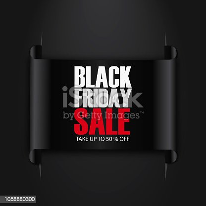 845307398 istock photo Black Friday Sale Abstract Background. sale banner. Ribbon. Tag. Vector illustration 1058880300