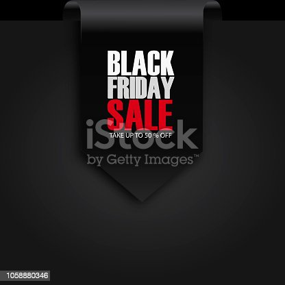 845307398 istock photo Black Friday Sale Abstract Background. sale banner. Ribbon. Tag. Vector illustration 1058880346
