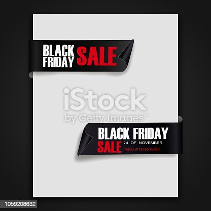 845307398 istock photo Black Friday Sale Abstract Background. sale banner. Ribbon. Tag. Vector illustration 1059208632