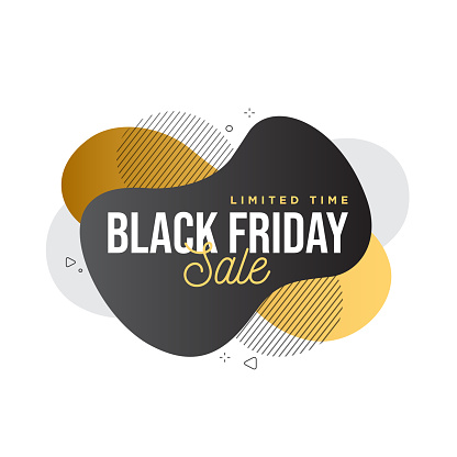 Black Friday sale abstract banner template design. Vector illustration. stock illustration