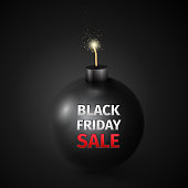 Black Friday Sale Abstract Vector Illustration
