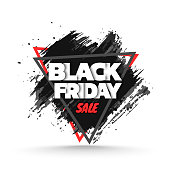 Black friday sale background. Grunge banner template. Vector illustration