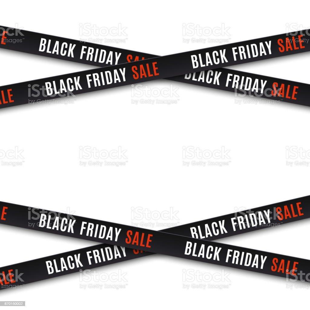 Black friday sale background. vector art illustration