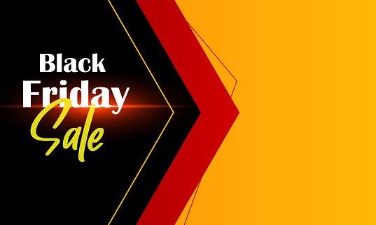 Black Friday sale banner. Sale tag. Special offer.