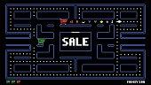 Pixelated, Sale, Marketing, Advertisement, Black Friday
