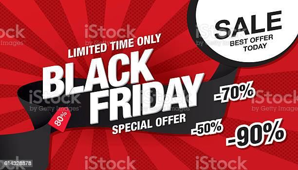 Black Friday Sale Banner Template Design - Arte vetorial de stock e mais imagens de Acordo
