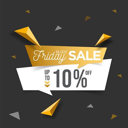 Black Friday sale banner template design. Vector illustration. stock illustration