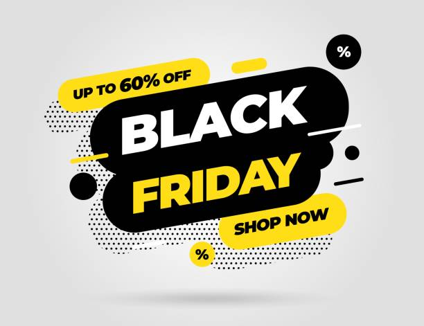 Black Friday sale banner template design. Vector illustration. Black Friday sale banner template design. Special offer. Vector illustration eps 10. black friday sale stock illustrations