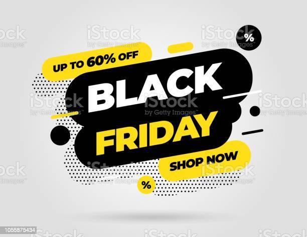 Black Friday Sale Banner Template Design Vector Illustration Stock Illustration - Download Image Now
