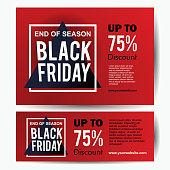 Black Friday sale banner template elegant with frame. Vector illustration eps 10.
