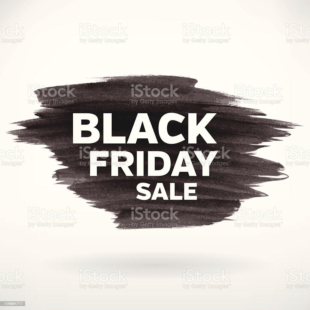 Black friday sale banner template vector art illustration