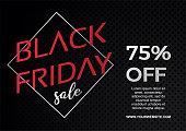 Black Friday sale banner template vector illustration eps 10. Trendy modern design with frame 3d minimalist style.