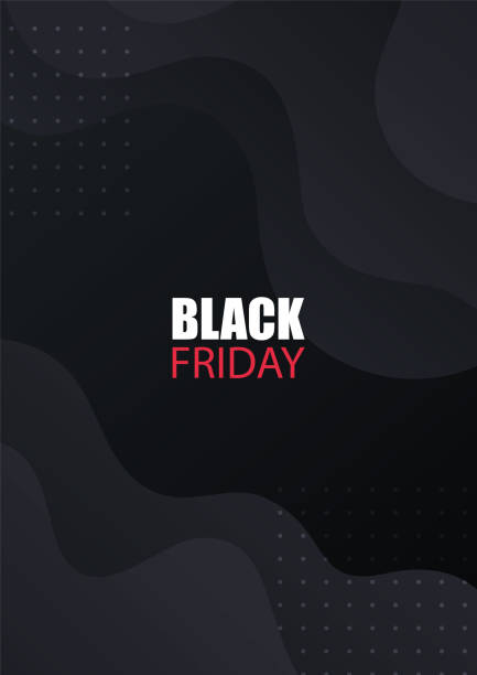 Black Friday sale banner. Vector design for sale flyers, product promotion, advertising, brochure, etc. Black cover with modern abstract gradient shapes. Black Friday sale banner. Vector design for sale flyers, product promotion, advertising, brochure, etc. Black cover with modern abstract gradient shapes. black friday sale background stock illustrations