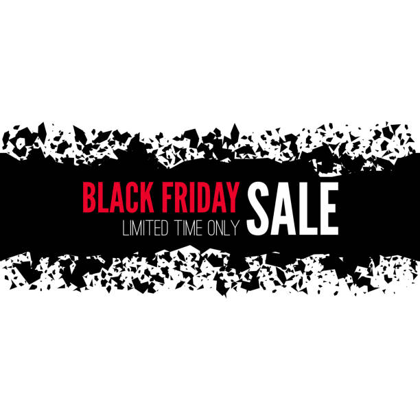 Black friday sale banner. Black friday sale banner. Vector tag with explosion effect. black friday sale background stock illustrations