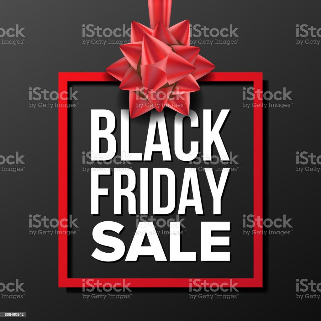 Carte We Black Friday.Black Friday Vente Banniere Vector Vector Illustration