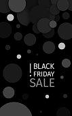 Black friday sale! Black Confetti Banner Ad. Eps 10 vector.