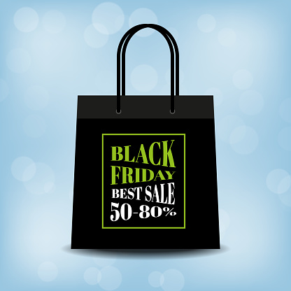 Black Friday sale blue bokeh background