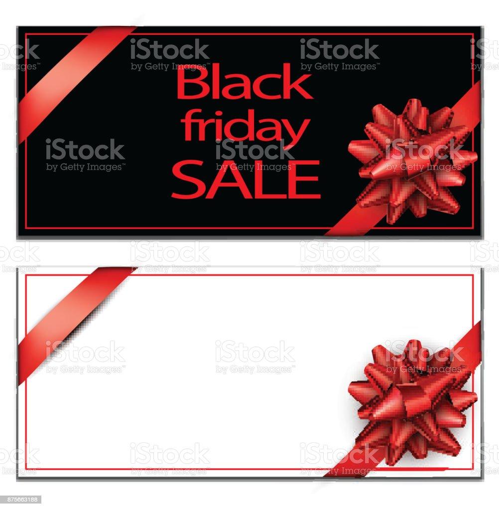 Modèle de la carte de vente vendredi noir. - Illustration vectorielle