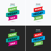 Black Friday Sale Design Template Creative Banner Vector Illus Stock
