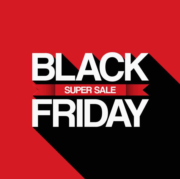 ilustrações, clipart, desenhos animados e ícones de black friday sale design template - black friday