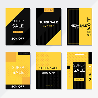 Black Friday Sale Flyer, Promotion Banner Template and social media post.
