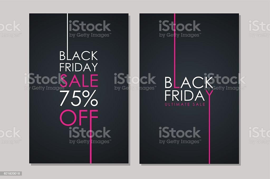 Black Friday Sale flyers. vector art illustration
