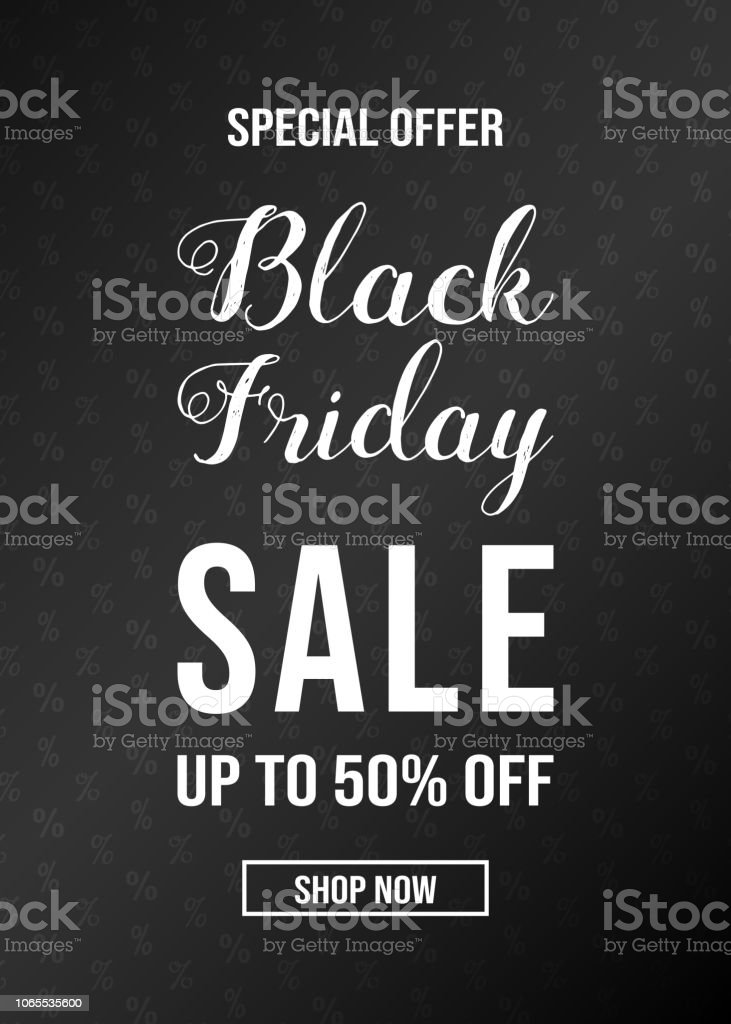 Carte We Black Friday.Black Friday Sale Glossy Card With Text Vector
