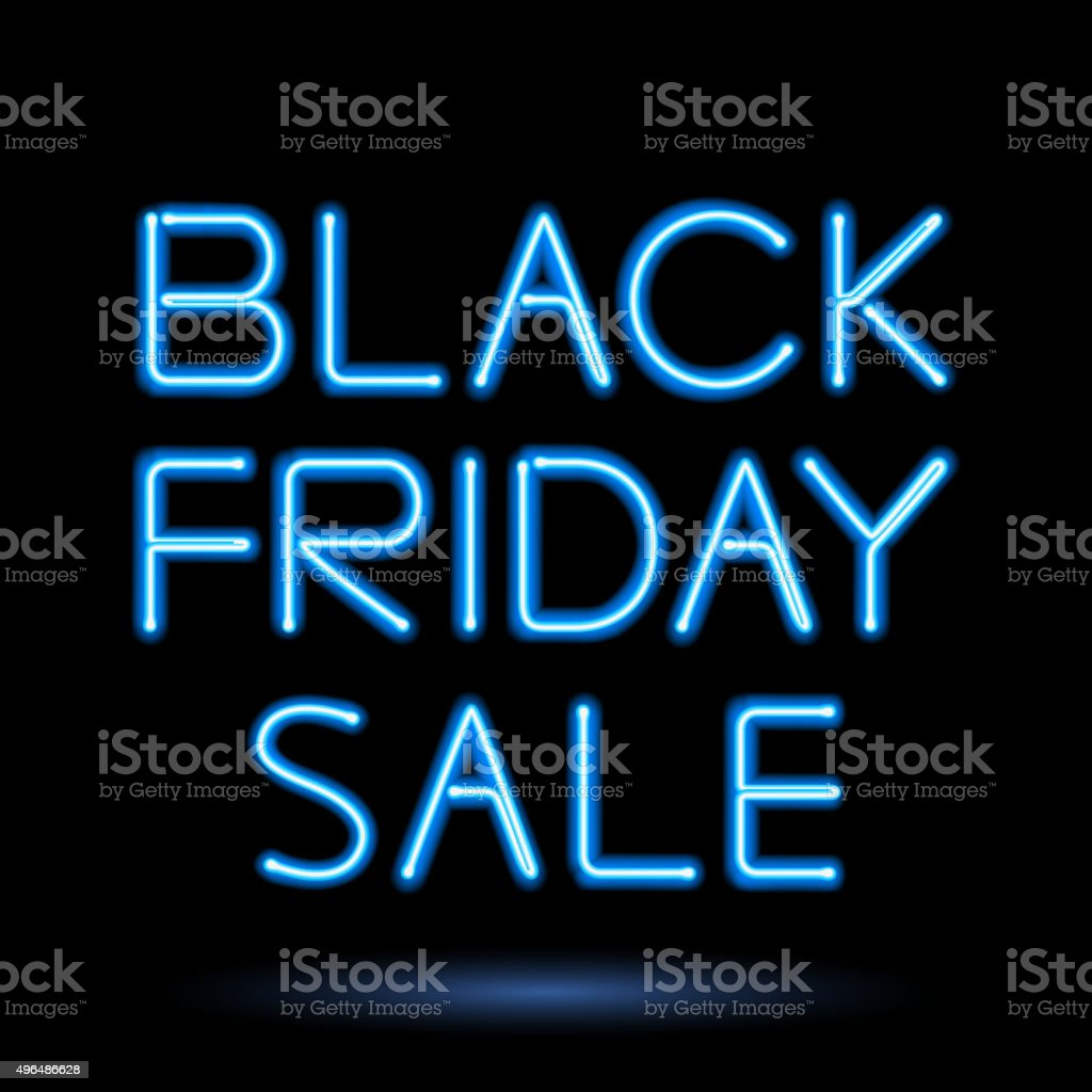 Black friday sale illustration. Advertising design vector art illustration