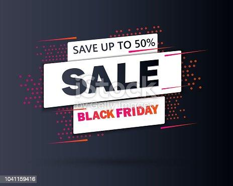Black Friday sale inscription design template. Black Friday banner. Special offer. Vector illustration EPS10