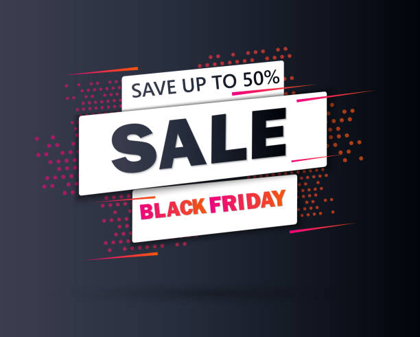 illustrazioni stock, clip art, cartoni animati e icone di tendenza di black friday sale inscription design template. black friday banner. special offer. vector illustration eps10 - sales