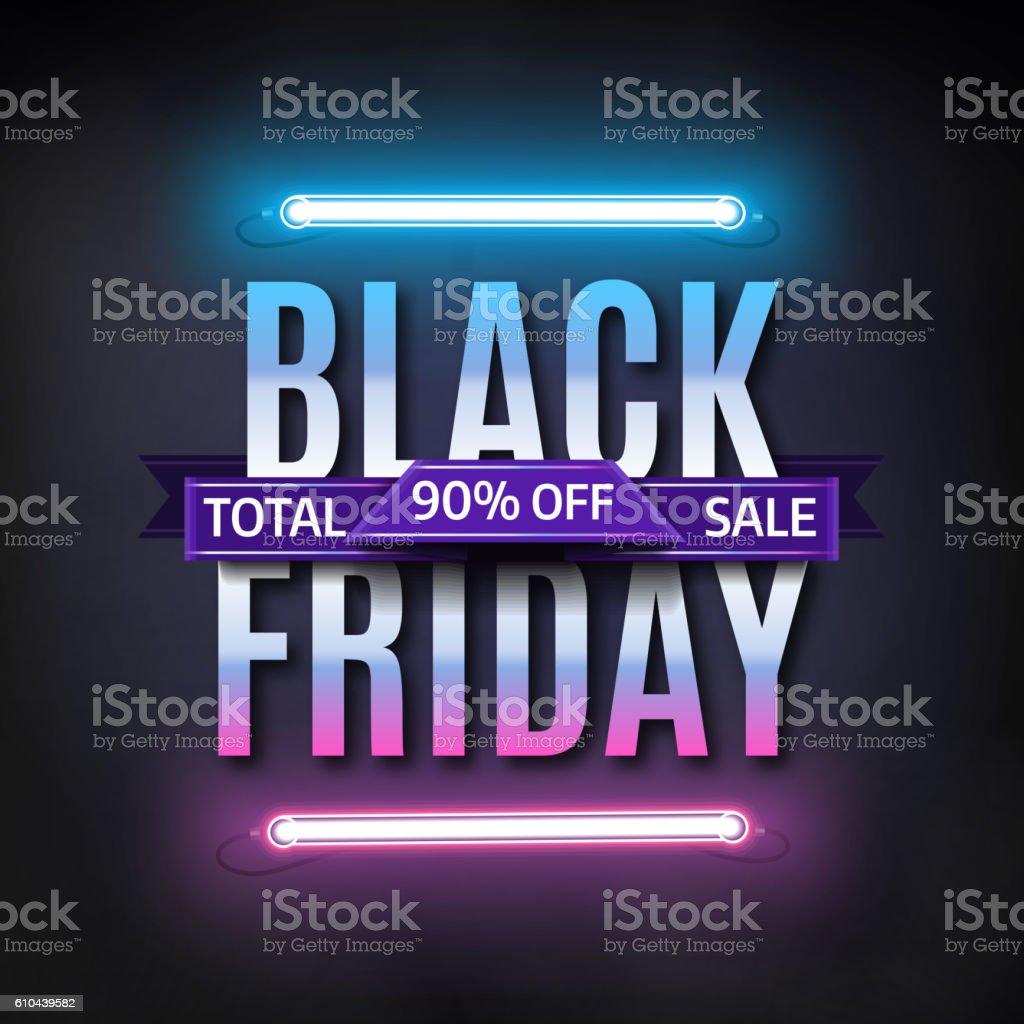Black Friday sale inscription design template. Black friday sale banner - ilustração de arte em vetor